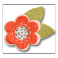 Giddy Giddy Felt French Barrette - Orange