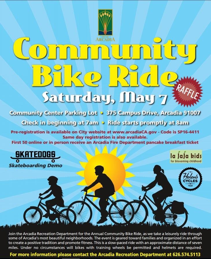 arcadia community bike ride
