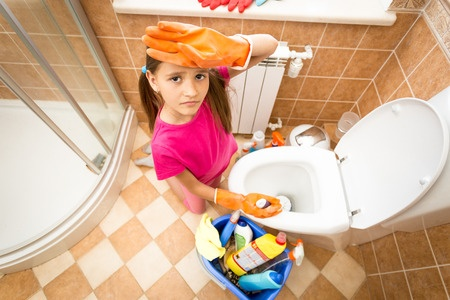 10 life skills to teach your child by age 10 la jaja for 9 bathroom cleaning problems solved