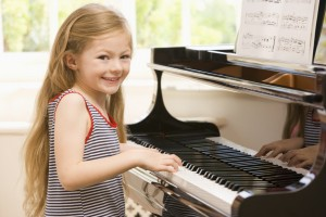 Young Girl Playing Piano