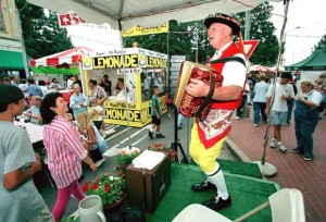 Fred Burri entertains with Swiss yodelling during a previous Orange International Street Fair.