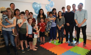 LONDON, UNITED KINGDOM - JUNE 10: Tim Downie poses with children and families at official inauguration of Blue Sky Autism Project's new centre on June 10, 2017 in London, England.  Blue Sky Autism Project is a charity providing specialist therapy services to families and children coping with autism. This is their second centre.   PHOTOGRAPH BY Terry Scott / Barcroft Images  London-T:+44 207 033 1031 E:hello@barcroftmedia.com - New York-T:+1 212 796 2458 E:hello@barcroftusa.com - New Delhi-T:+91 11 4053 2429 E:hello@barcroftindia.com www.barcroftimages.com (Photo credit should read Terry Scott / Barcroft Images / Barcroft Media via Getty Images)