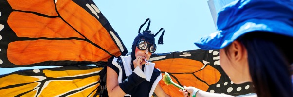 Nature Fest, Butterfly performer - 20160626_1287_naturefest_MD, cropped