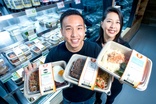 Local culinary industry veterans Albert Chu and Patricia Huang have teamed up with talented local chefs to open a new takeout establishment – ChefBox – in South Pasadena, Calif. Nov. 28, 2017.  With an array of prepared meal boxes filled with a variety of cuisines, ChefBox offers meals for lunch and dinner that can be quickly heated at work or at home.   (Photo by Leo Jarzomb, SGV Tribune/ SCNG)