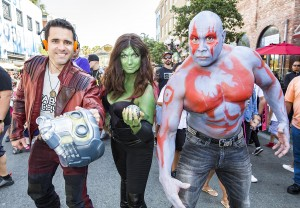 SAN DIEGO, CA - JULY 19:  Fans in costume attend Comic-Con International on July 19, 2018 in San Diego, California.  (Photo by Daniel Knighton/FilmMagic)