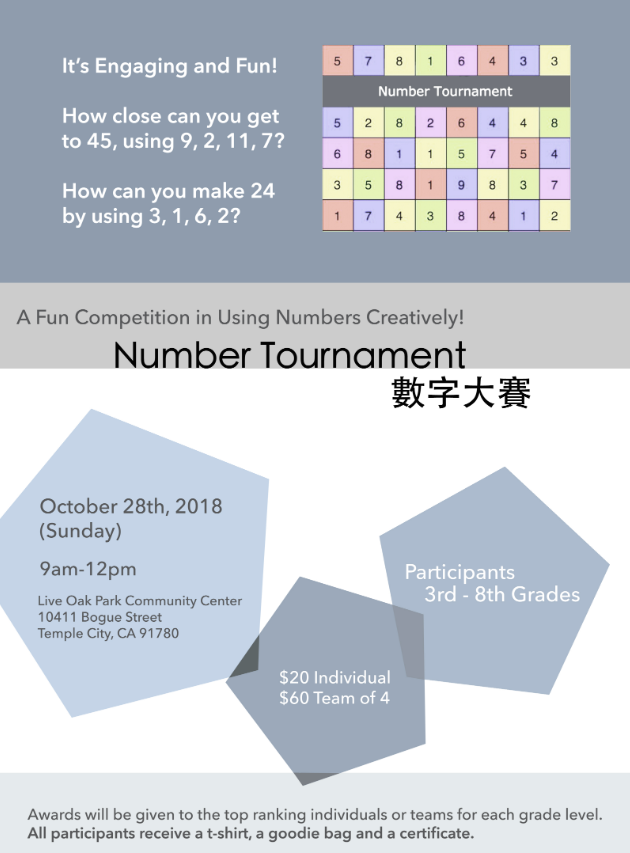 number tournament flyer